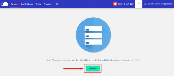 Launch your first server on CloudWays
