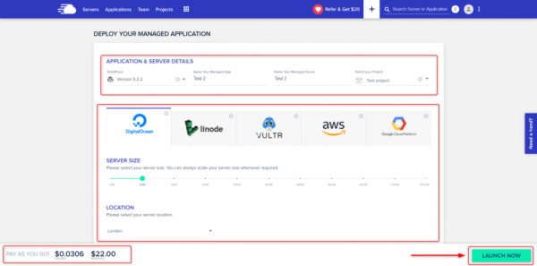 Deploy your managed application on CloudWays