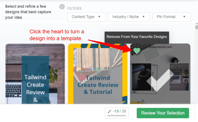 Create templates with the click of a button.