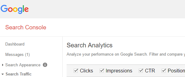 Google Search console for search analytics