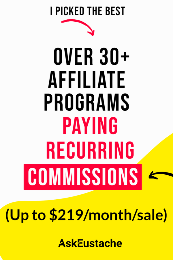 affiliate programs that pay recurring commissions per sale