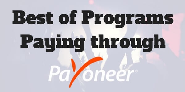 best online earning sites paying through payoneer