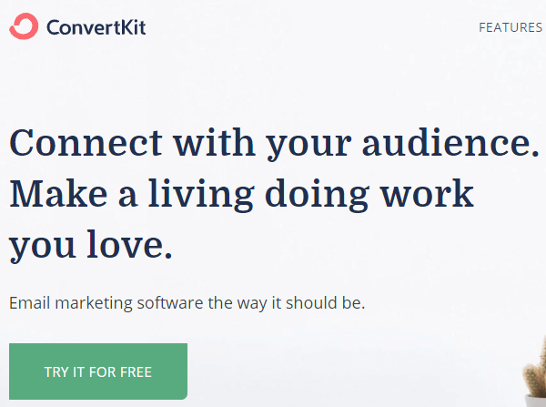 convertkit - email marketing software for content creators.