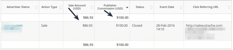 proof of high paying affiliate commission