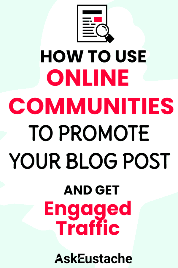 how to use online communities to promote blog posts