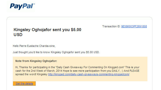 kingged.com daily contest payment proof
