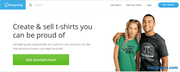 make and sell t-shirts online with teespring