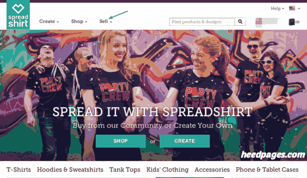 sell t-shirt designs with spreadshirt