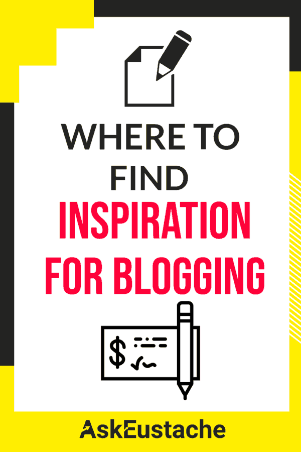 Where to find inspiration for blog post